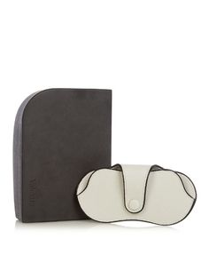 Valextra Grained-leather glasses case