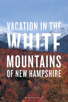 The White Mountains, the lakes, and the woods all conspire to create the a wonderful summer vacation.