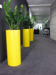 A splash of yellow is just the thing to off-set a grey office