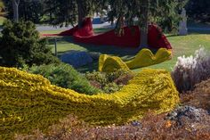 Please find attached an image of Orly Genger'sÊRed, Yellow and BlueÊat deCordova Sculpture Park and Museum, at the request of Cate McQuaid. ...