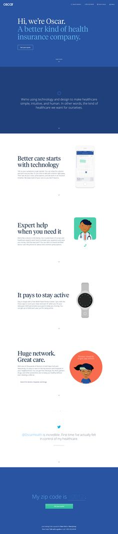 Oscar Health Insurance- Tech design and experience really smart and good to reference