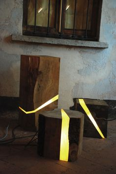 Wood Brecce Lamps by Marco Stefanelli