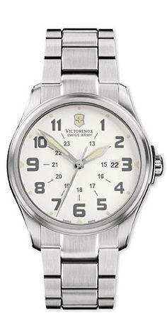 Infantry 241293 - Vintage - Large White Dial - Stainless Steel Bracelet