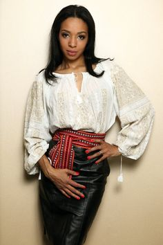 Romanian traditional blouse with long sleeves by RomanianLabel, $150.00