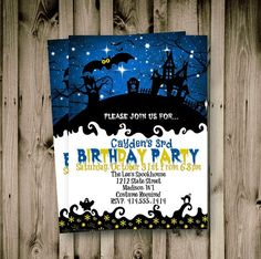Holiday Invitations, Halloween Party Invitations, Birthday Invitations Kids, Printable Baby Shower Invitations, Graduation Party Invitations, Baby Shower Invites For Girl, Haunted House For Kids, Adult Halloween, Fall Halloween