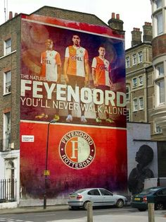 Street art in Rotterdam: Feyenoord is the Dutch professional football club from Rotterdam, that plays in the Eredivisie.