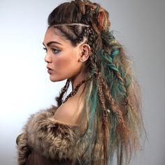"MODERN SALON Blogger Tammi Ravenscraft's Wella Trend Vision ""Uncharted Territories"" Look. @wella #trendvision #wellatrendvision #hair #updo #braids #summerhair #texture #charlierstylistmt"