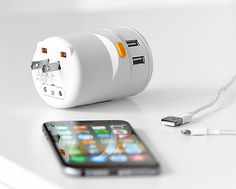 Twist World Adapter - Offering connectivity in over 150 countries, the Twist World Adapter is a universal power adapter designed to quickly twist & release to the correct position for the socket you're plugging into. It's a perfectly portable size & also offers 4 USB ports.