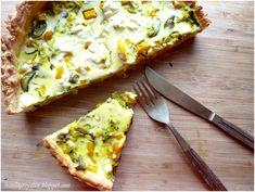 Lisiecka Przystań: Tarta z ciasta francuskiego z warzywami i fetą