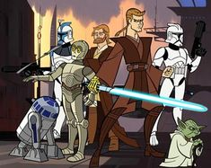 A picture gallyer of Anakin Skywalker, Mace Windu, Yoda and more from the animated series 'Star Wars: Clone Wars. Star Wars Jedi, Star Wars Art, Star Wars Clones, Star Wars Karikatur, Cartoon Network Characters, Star Wars Cartoon, Star Wars Personajes, Mace Windu, Anime Stars