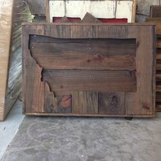 """Stained recycled pallet Texas sign. 24"""" X 24"""" approx. (Items are made from recycled materials so sizes vary ) These can also be made a custom size just message me for prices. Other States available al"""