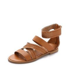 star perforated gladiator sandals / see by chloe