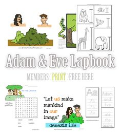 Our Adam and Eve lapbook is available free to our newsletter subscribers. This is a great lapbook to introduce children to the story of Creation. Many of the lapbooking elements a...