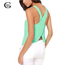 Lace Girl 2016 Summer Women Blouses Strapless Candy Color Shirts Sexy Backless Strap Chiffon Blouse Crop Tops Ladies' Vest(China (Mainland))