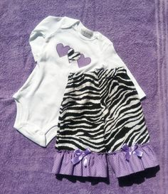 Toddler Baby Girl Clothes - Zebra and Purple Hearts - Ruffle Pants Set on Etsy, $39.99