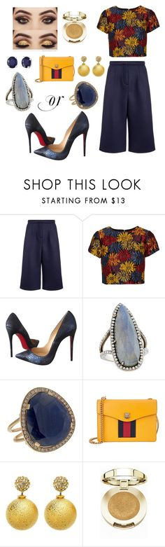 """""""Untitled #156"""" by fllodeea ❤ liked on Polyvore featuring Emma Cook, Alice + Olivia, Christian Louboutin, Gurhan, Christina Debs, Gucci, Milani and Effy Jewelry"""
