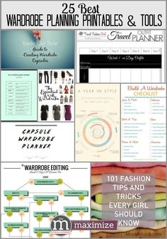 25 Best Wardrobe Planning Printables and Tools- I can't wait to plan my spring wardrobe!