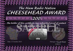 Ham Radio Nation - The Cheesehead Award. Only in Ham Radio