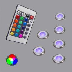 6er Einbauset Pro IP67 RGB: #einbaustrahler #farbwechsel #lampen #leuchten #stimmung