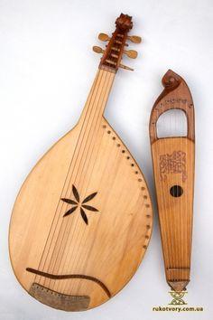 Bandura and Husla by Yurko Avdeev  Ukrainian Folk Instruments