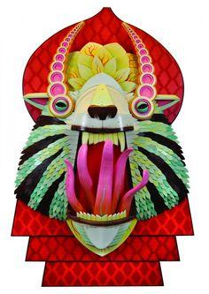 masque aj fossik 12 531x750 Les monstres en relief dAJ Fosik  art