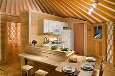 Last Trending Get all images home walls designs Viral pacific yurts kitchen parion Yurt Living, Tiny Living, Casa Yurt, Yurt Tent, Yurt Camping, Glamping, Pacific Yurts, Yurt Home, Wall Design