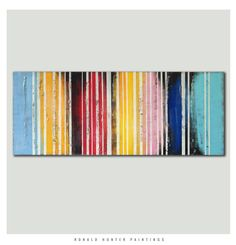 Abstract Painting Canvas Wall art COLORS by RonaldHunter on Etsy