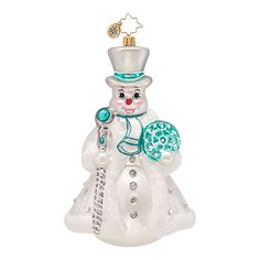 Radko Ornaments Snowman Christmas Ornament Wintery Frost Frosty