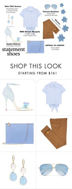 """""""#56"""" by gpramasita ❤ liked on Polyvore featuring Sophia Webster, MM6 Maison Margiela, Aspinal of London, Diverso, Saks Fifth Avenue, Victoria Beckham and statementshoes"""