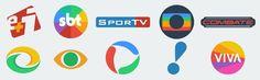 Logos dos canais brasileiros no estilo minimalista. App, School, Advertising, Minimalist Style, Speech Balloon, Apps