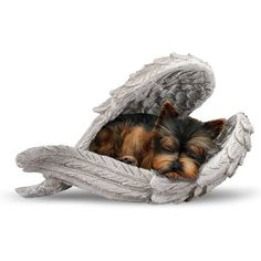 The Hamilton Collection Blake Jensen Yorkie Leave Paw Prints On Our Hearts Wrapped in Angel Wings Figurine Yorkies, Animals And Pets, Cute Animals, Yorkie Puppy, Poodle Puppies, Yorkshire Terrier Puppies, Best Dogs, Fur Babies, Paw Prints