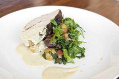 Heritage Turkey: lyonnaise kale & potato, roasted mirepoix vinaigrette