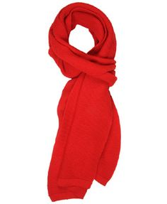 purl knit scarf in red