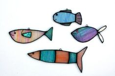 Scrap glass--Glass Art by Maria Barber - Fish