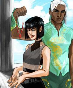 Amren and Varian at Summer Court