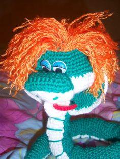 """Con hilo, lana y aguja todo es posible """"Manos Maravillosas"""": serpiente"""
