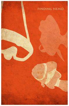 Pixar Finding Nemo Vintage Minimalist Poster by Posterinspired