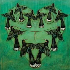 Heart strings by Kathryn Furniss Art Maori, Bird Graphic, New Zealand Art, Nz Art, Kiwiana, Wall Art For Sale, Cute Birds, Print Artist, Contemporary Artists