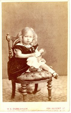 Doll Girl Carte De Vista 1879 by Mirror Image Gallery, via Flickr