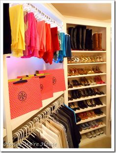 I think every closet should have a shoe rack like this...because we all have shoes...so why don't we all have somewhere like this to store them?!
