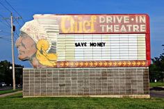 Drive-in theaters, like tail-finned cars and raccoon hats, recall a more carefree and innocent time in our country's past. Western Signs, Topeka Kansas, Neon Jungle, Drive In Movie Theater, Forgotten Treasures, Outdoor Theater, Salt Lake City Utah, Roadside Attractions, Old Signs