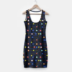 Pacmania by DEATH·S AMORE CLOTHING 159.95zł #dresses #pacman #custom