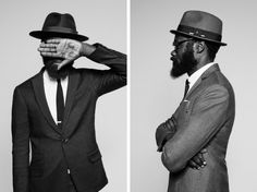 In collaboration with Parisian label The Kooples Lambert and Maidoh have designed a special hat collection that consists of two Fedoras. Streetwear, Vintage Fashion 1950s, Vintage Hats, Victorian Fashion, Portrait Photography Men, Christian Dior Couture, Street Portrait, Mode Chic, Well Dressed Men