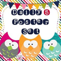 Daily 5 CAFE & CRAFT posters FREEBIEThese free posters will perfectly compliment your Daily 5 instruction. The CRAFT posters are perfect for Upper Elementary or Middle School students while the CAFE posters are great for primary kiddos. These posters coordinate beautifully with my other Retro Rainbow Dcor Elements.