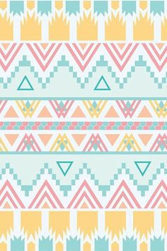 Coral Light Team And Golden Yellow Aztec Print Turquoise Owl Iphone Wallpaper