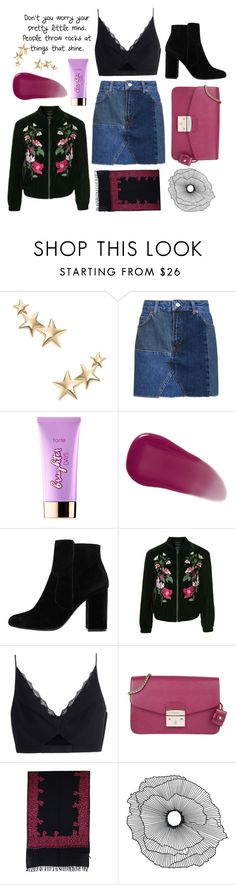 """""""💫"""" by giordanaardini ❤ liked on Polyvore featuring Kenneth Jay Lane, Topshop, tarte, Givenchy, MANGO, Versace, Furla, NOVICA and Home Decorators Collection"""
