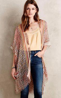 Patchworked Flora Kimono #anthrofave