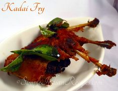 Kaadai 65 (Quail Fry):  Simple and tasty fry with quail, otherwise called as kadai. Try the recipe @ http://simpleindianrecipes.com/Kaadai65.aspx