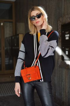 20abb42162b0d fashion blogger Outfit  perfect from spring - cardigan and coccinelle  arlettis bag in red suede