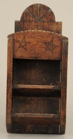 Primitive Hanging Box Furniture Good for a Bill Holder Primitive Shelves, Primitive Homes, Primitive Furniture, Primitive Antiques, Primitive Crafts, Country Primitive, Antique Furniture, Primitive Bedroom, Prim Decor
